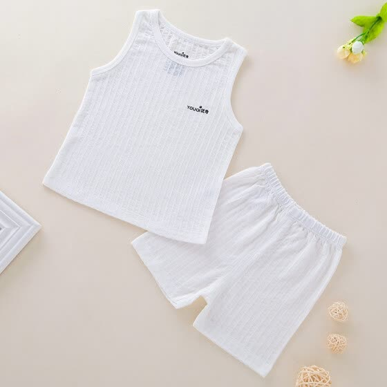 7c057503a266 Summer Baby Vest Cotton Baby Girl Clothes Sleeveless Boy Clothing 3 6 9  Months 4 Years