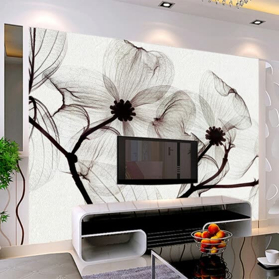 Modern Abstract Art Flower 3D Mural Wallpaper Living Room Hotel Interior Simple Home Decor Wall Painting 3D Non-Woven Wallpaper