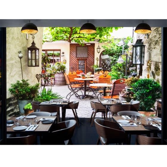 Пользовательские обои для фото 3D-стерео Европейский кафе Ресторан-стрит-декорации