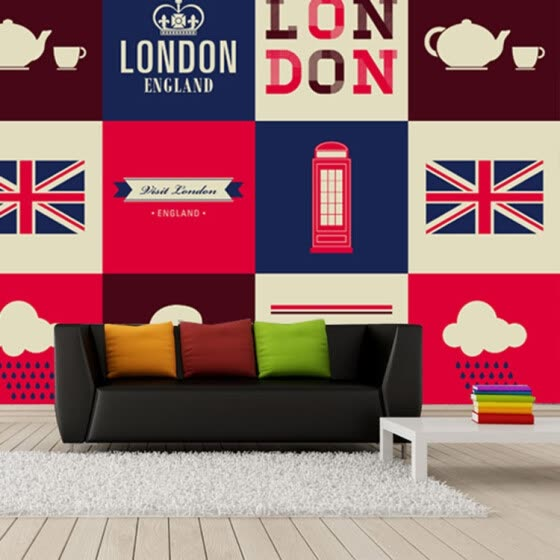 Shop Custom 3D large murals British flag London red