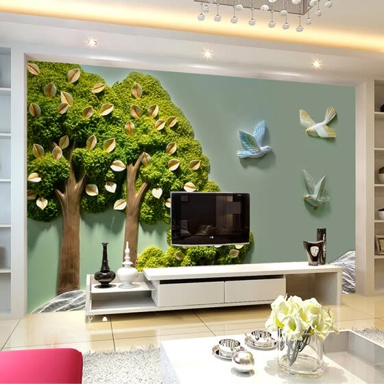 Shop Custom Photo Wallpaper Home Decor 3d Stereoscopic Relief Trees