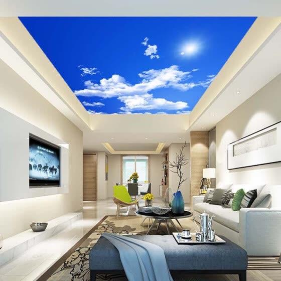 Shop Blue Sky White Clouds Sunshine Ceiling Zenith Mural Custom 3d