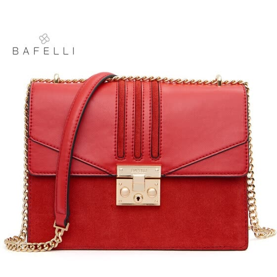 BAFELLI winter new arrival split leather bag blue bolsos mujer frosted  suede cowhide crossbody bag hot 759a8c6691