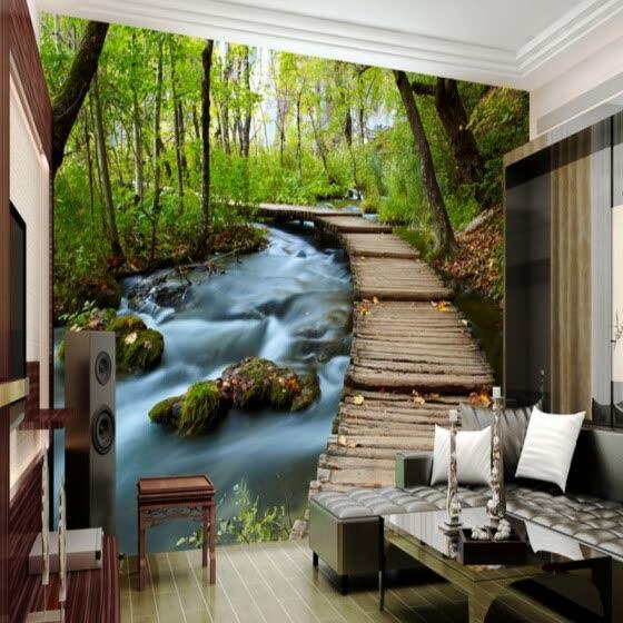 Custom Mural Coffee House Living Room Wallpaper
