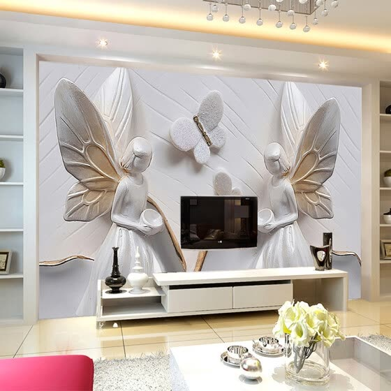 Shop Custom Photo Wallpaper 3D Stereoscopic Relief Butterfly ...