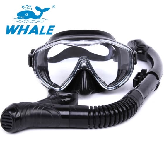 c46d70e7a4c3 Whale Brand Scuba Diving Mask Snorkel Goggles Set Silicone Swimming Pool  Equipment