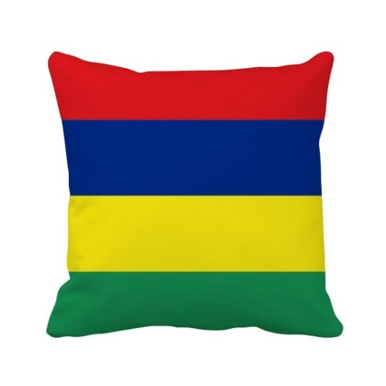 Mauritius National Flag Africa Country Square Throw Pillow Insert Cushion Cover Home Sofa Decor Gift