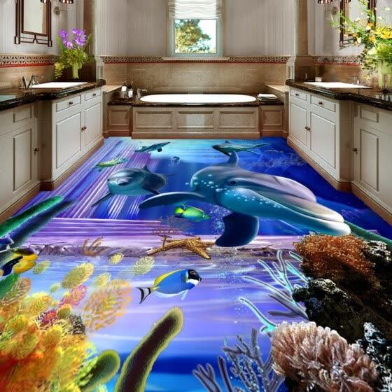 Shop Free Shipping Dazzling Dolphin Underwater Kitchen