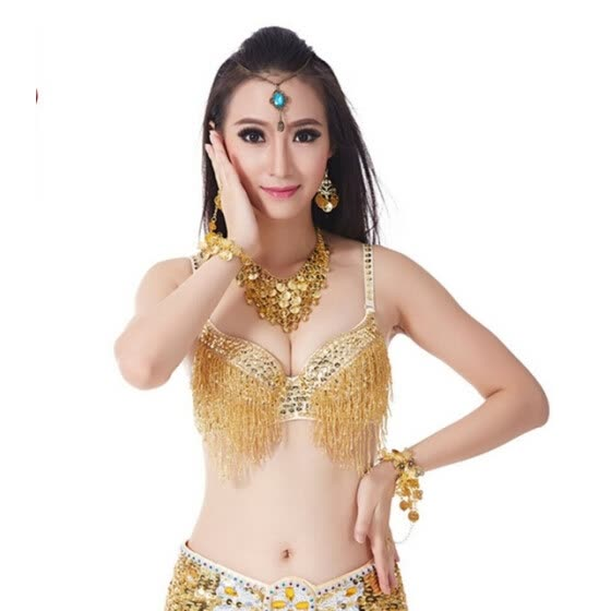 2a5567bf4 2018 High Quality Women Tribal Belly Dance Beaded Fringe Sequined Bra Top  Egypt Indian Belly Dance
