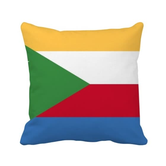 Comoros National Flag Africa Country Square Throw Pillow Insert Cushion Cover Home Sofa Decor Gift