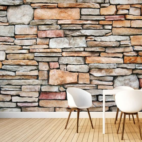 Custom 3D Photo Wallpaper Wall Painting Living Room Restaurant Background Large Mural Home Decor Stone Brick Wall Paper Rolls