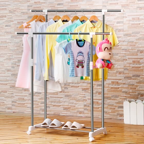 Mercure guest hanger thick stainless steel double pole removable drying rack clothes drying rack MJ-0323A