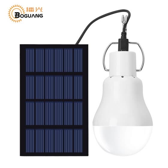 BOGUANG 1.5W solar panel power portable LED bulb light engegy lamp camp tent night outdoor survival camping equipment sport