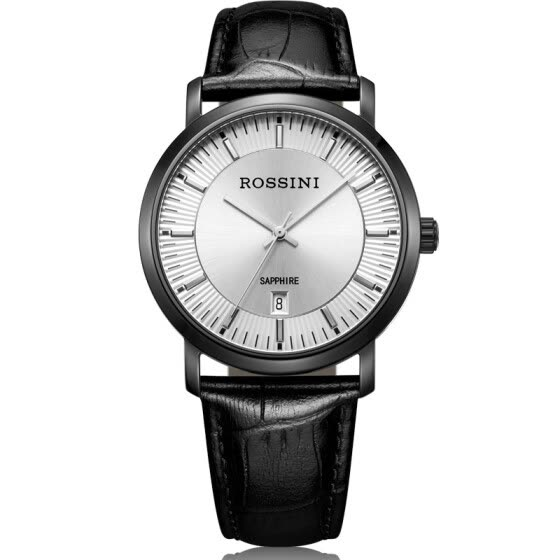 Rossini (ROSSINI) watches Yazun Business Series Slim Simple Two-needle Belt Quartz Watch Men's Table 517769B06D