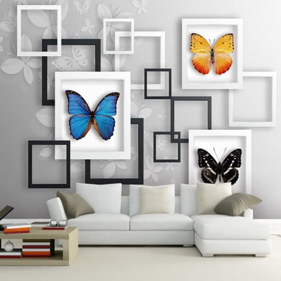 Shop Modern 3d Stereo Geometric Abstract Butterfly Wall Painting
