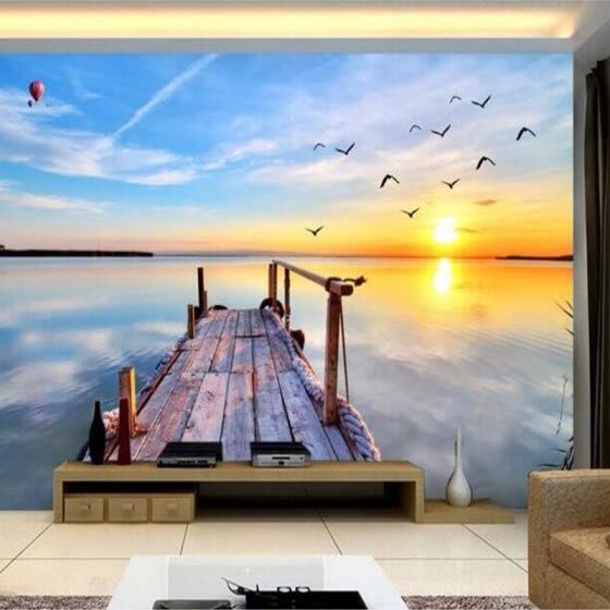Custom 3D Photo Wallpaper 3D Nature Landscape Sea View Large Wall Painting Wall Decorations Living Room Bedroom Modern Wallpaper