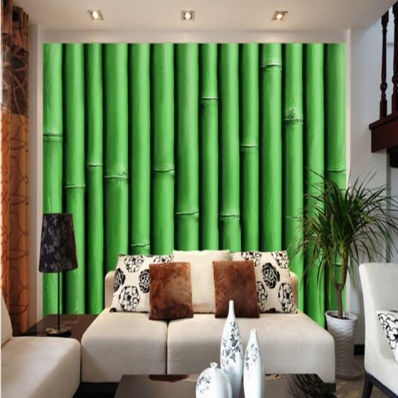 Shop Custom 3d Mural Wallpaper Bamboo Classical Background Wall