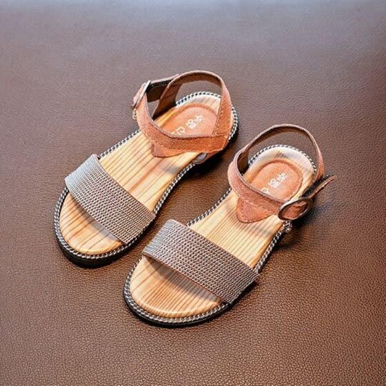88986e157e75c 2018 New Children Sandals for Girls Shoes Kids Summer Beach Little Big  Girls Open Toe Flat