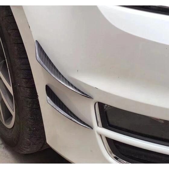 4× Carbon Fiber Car Front Bumper Splitter Fin Spoiler Canards Exterior B ll