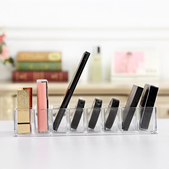 2018 Aila Transparent Acrylic 8 Eye Shadow Collection Box Dressing Table Lipstick Powder Cake Blush Cosmetics Collection Box