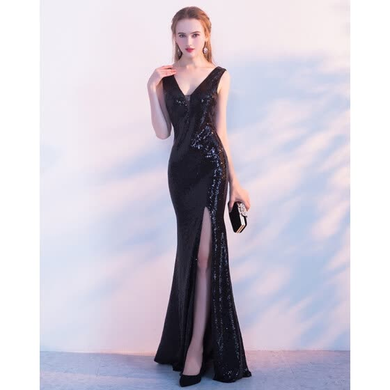 e5d350897ac7 Banquet evening dress fashion gold sexy long fish night club dinner dress  skirt