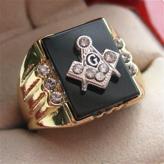2f1d0b4907f23 Shop Hot Selling Natural Onyx 18k Gold Plated Masonic Memorial ...