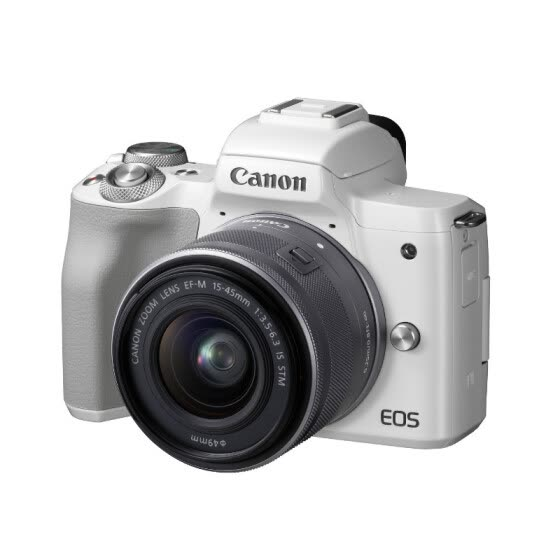 Canon (Canon) EOS M50 Mirrorless Camera Digital Camera Mirrorless Set White (15-45 Mirrorless Lens) Vlog Camera 4K Video Capture