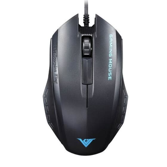 RAJFOO V3 1600 DPI Optical USB Wired Gaming Mouse Mice For PC Laptop