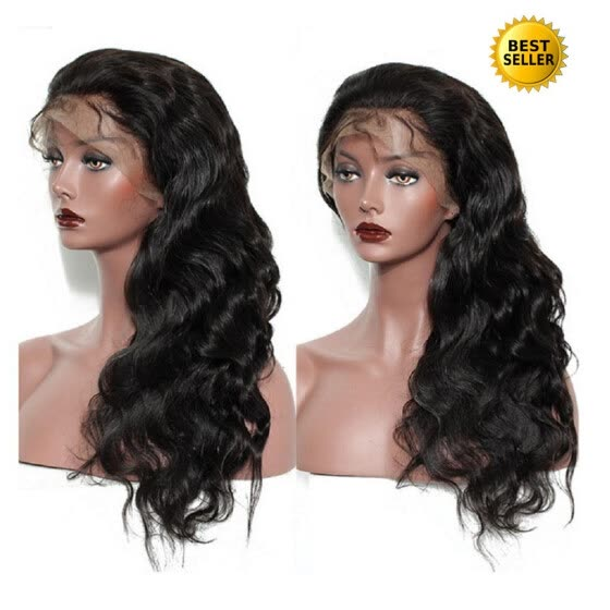 Protea Lace Front Remy Human Hair Wigs Pre Plucked 250% Density Brazilian Lace Frontal Hair Wig Body Wave Bleached Knots