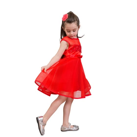 b91cbad2a3fcc Shop Summer Baby Girl Mesh Princess Dress Lace Party Dress Ball Gown ...