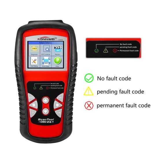 KONNWEI KW830 Car Code Reader, Automotive Diagnostic Scan Tool Code Reader for Check Engine Light, Read & Clear Trouble Codes