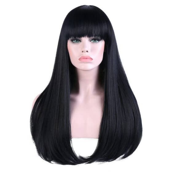 African Human Hair Wig Black Silky Straight Hair Lace Front Wigs For Women