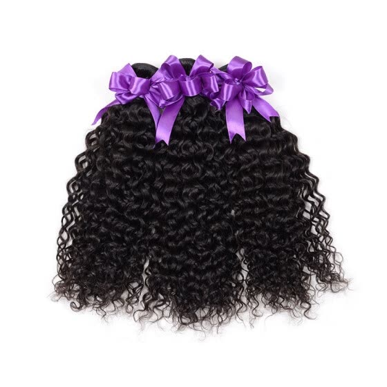 PASSION HAIR Kinky Curly Human Hair Bundles Malaysian Virgin Human Hair Weave 3 Bundles Extension Natural Color