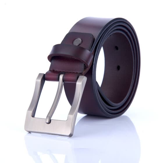 Explosion models men's pin buckle leather belt Korean retro casual pure leather belt belt