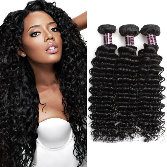 Ishow Brazilian Deep Wave Virgin Hair Brazilian Hair Bundles 3pcs lot100% Curly Virgin Hair Factory Selling 7ACheap Hair Weave