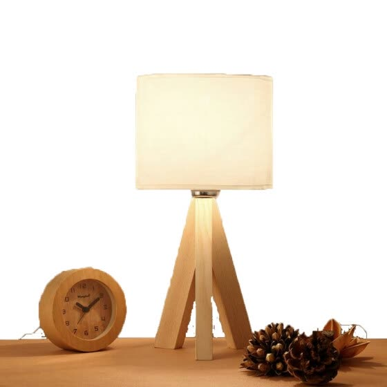 Solid Wood Desk Lamp Modern Minimalist Bedside Table