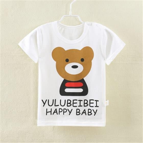 ccc4235cf 2018 Cotton Kids T-Shirt Children Summer Short Sleeve T-Shirts For Boys  Girls