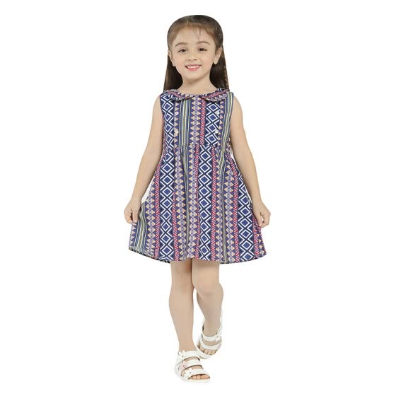 Girls Summer&Spring Dress 2018 New Arrival Cotton Loose Sleeveless Midi Dresses For Girls Kids Clothing Casual Style Hot Sale