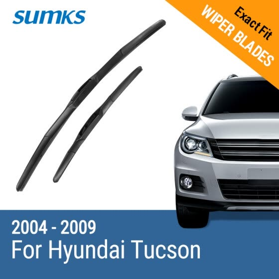"SUMKS Wiper Blades for Hyundai Tucson 24""&16"" Fit Hook Arms 2004 2005 2006 2007 2008 2009"