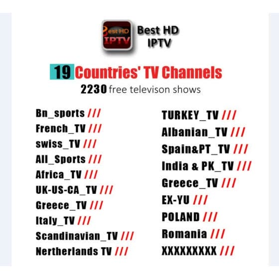 Shop 12 Months 2000+ Live TV IPTV M3U ENIGMA2 Best HD IPTV German