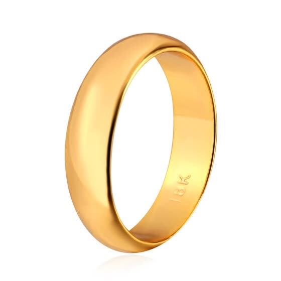Gold Ring Men  Women Gift Wholesale 18k Real Gold Platinum Plated 5MM Wide  Classic 75c03f7ddd