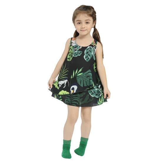 cadcf95d24dbf Girls Dress 2018 New Arrival Summer Fashion Birthday Party A-Line Casual  Floral Dresses For