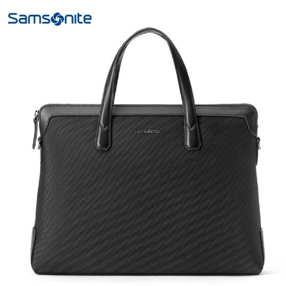 Samsonite EDDIE Men's Urban Simple Business Briefcase Men's Leather Case 45Q*09011 Black