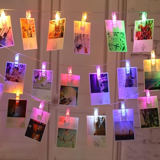 Shop 20 clips DIY photo album photo wall light clip led