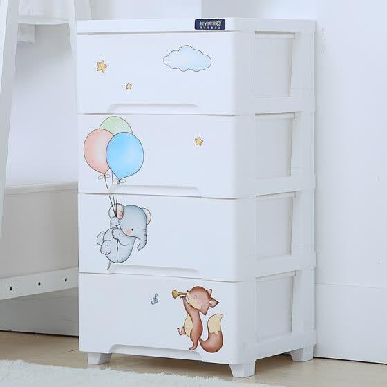 Shop Also ya drawer plastic storage cabinet children cartoon