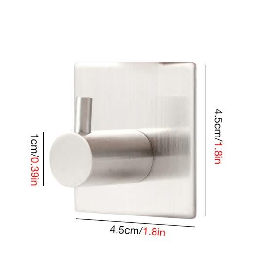 Cntomlv 3M Sticker Adhesive Stainless Steel Hooks Wall Door Clothes Coat Hat Hanger Kitchen Bathroom Rustproof