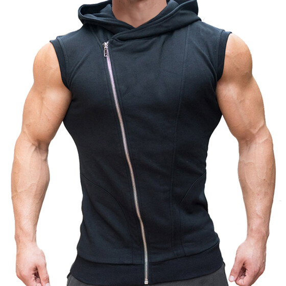 UK Mens Sports Sleeveless Muscle Fit Hoodies Pullover Tank Top Vest Bodybuilding