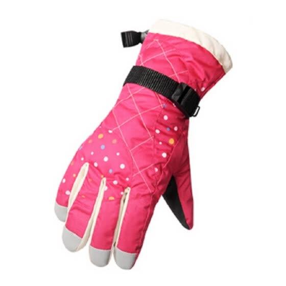 aunijie вода отпугивает тепловой женщин девочек зимние лыжные перчатки сноуборд снегоход мотоцикл велоспорт спорт на открытом воздухе перчатки