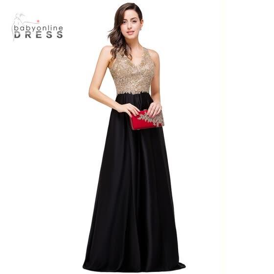 Vestidos de fiesta baratos negro