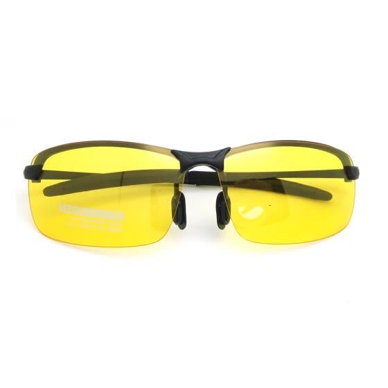 Hombre Deporte Antideslumbrante Anteojos Anteojos Polarizados Conducción Gafas  de sol Amarillo Lente Visión Nocturna fcd03f6006f9
